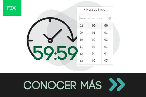 Minutos y segundos al crear Horarios Minutos y segundos al crear Horarios