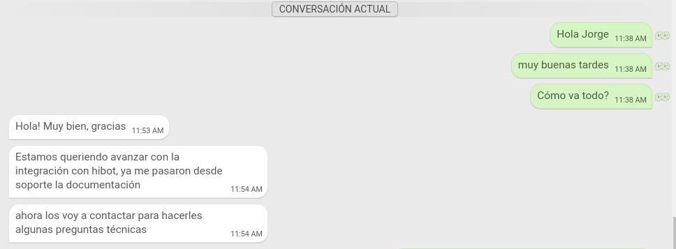 Conversación actual